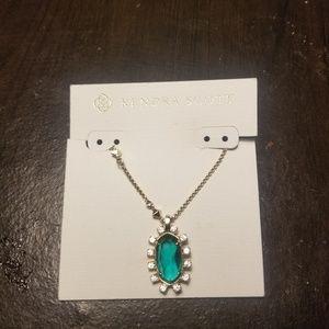 Kendra Scott Elisa Emerald Pendant Necklace